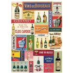 "Cavallini Decorative Paper - Vin Francais Wine 20""x28"" Sheet"