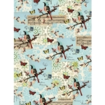 "Cavallini Decorative Paper - Flora & Fauna Birds & Music 20""x28"" Sheet"