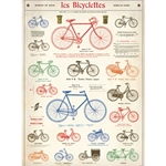 "Cavallini Decorative Paper - Les Bicyclettes 20""x28"" Sheet"