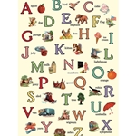 "Cavallini Decorative Paper - Illustrated Alphabet 20""x28"" Sheet"