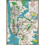 "Cavallini Decorative Paper - New York City Subway Map 20""x28"" Sheet"