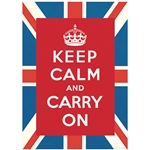 "Cavallini Decorative Paper - Keep Calm and Carry On 20""x28"" Sheet"