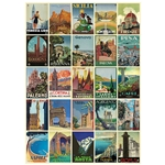 "Cavallini Decorative Paper - Italian Postcards 20""x28"" Sheet"