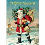 "Cavallini Decorative Paper - Vintage Santa Claus 20""x28"" Sheet"