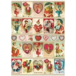 "Cavallini Decorative Paper - Valentine's Day Victorian 20""x28"" Sheet"