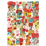 "Cavallini Decorative Paper - Valentine's Day 1950's 20""x28"" Sheet"