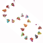 Decorative Paper Garland- Multicolor Elephants