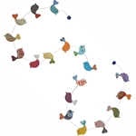 Decorative Paper Garland- Multicolor Birds