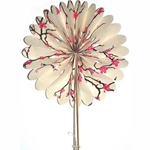 Decorative Paper Fan- Magenta Peach Blossoms