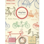 Cavallini Wrap Pack- Vintage Bicycles