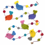 """Birds"" Felt Garland from Nepal"