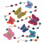 """Butterflies"" Felt Garland from Nepal"
