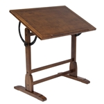 "Studio Designs Vintage Drafting Table 36"" Rustic Oak"
