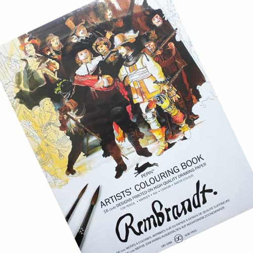 Artists Coloring Book Pepin : Pepin artists colouring books rembrandt
