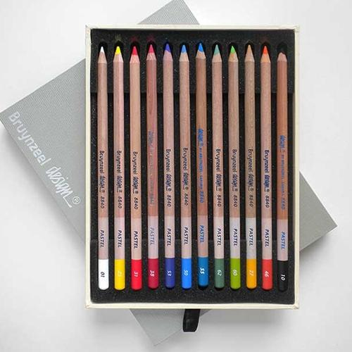 bruynzeel design pastel pencils set of 12