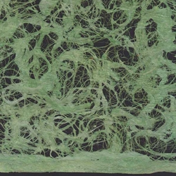 Amate Bark Paper from Mexico- Lace Verde Fuerte 15.5x23 Inch Sheet