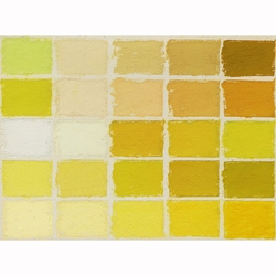 Mount Vision Pastels - Yellow Set 25 Handmade Soft Pastels