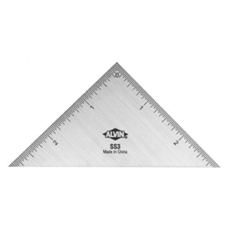 "3"" Stainless Steel Triangle Ruler"