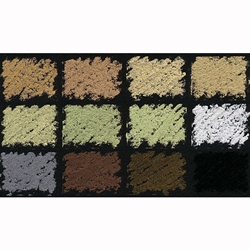 Diane Townsend Handmade Soft Pastel Sets - Metallic Colors Set of 12 Pastels