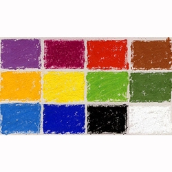 Diane Townsend Handmade Soft Pastel Sets - Primary Colors Set of 12 Pastels