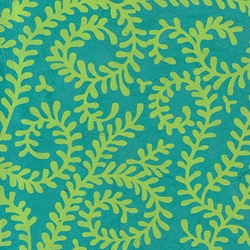 Nepalese Printed Paper- Bright Swirling Vines