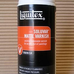 Liquitex Soluvar Matte Varnish In a Spray Can