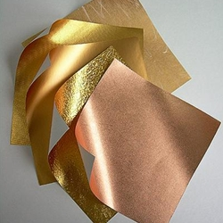 Origami Paper- Copper Metallic Assortment