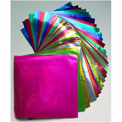 Color Foil Origami- 18 Sheets, 9-3/4 Inch Square