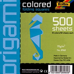 Origami- Colored Folding Squares Giant Pack of 500 4x4 Inch Sheets