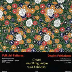 Origami Paper- Folk Art Patterns