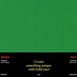 Origami Paper- 50 Green Sheets