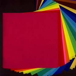 Pure Color Origami Paper- Pack of 40 Sheets 5-7/8 Inch Square