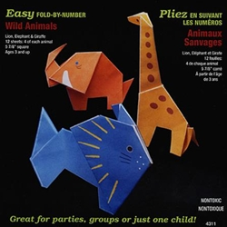 Easy Fold By Number Origami- Wild Animals