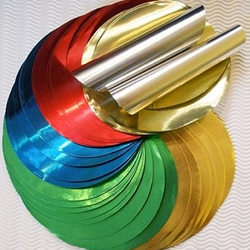 Circular Origami Folding Sheets- Aluminum Foil Colors 50 Sheets