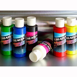 Createx Airbrush Color Starter Set - Six 2 oz. Bottles