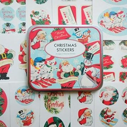 Cavallini Retro Christmas Stickers