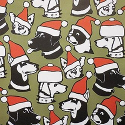 Holiday Paper & Wrap - Christmas Dogs!