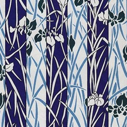 "White & Deep Indigo Iris Stripes - 18""x24"" Sheet"