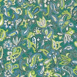 Blue, Green, & Teal Paisley