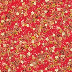 "Red, Yellow, & Orange Floral - 18.75""x25.5"" Sheet"