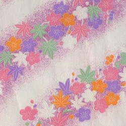 "Pastel Cherry Blossoms & Maple Leaves - 31.5""x22"" Sheet"