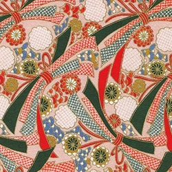 "Red, Green, Pink, and Blue Bows and Flowers - 21.5""x31.5"" Sheet"