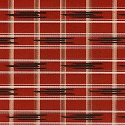 "Traditional Fabric Pattern in Red, Black, Gold, and White Plaid - 19""x26"" Sheet"