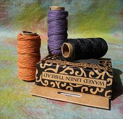 Waxed Linen Thread- Three 20 Yard Spools