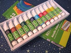 Reeves Acrylic Paints - Set of 12 Colors