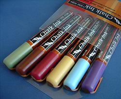 Chalk Ink Liquid Chalk Markers - Set of Six Earthy Colors