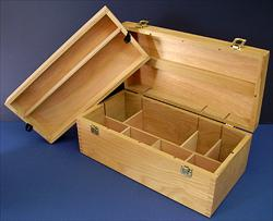 Wooden Art Supply Chest
