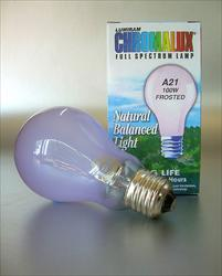 Chromalux Full Spectrum 100W Frosted Light Bulb