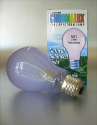 Chromalux Full Spectrum Daylight Light Bulb 75W