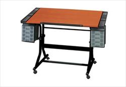 Craftmaster II Deluxe Hobby and Drawing Center with Wood Grain Top and Black Base